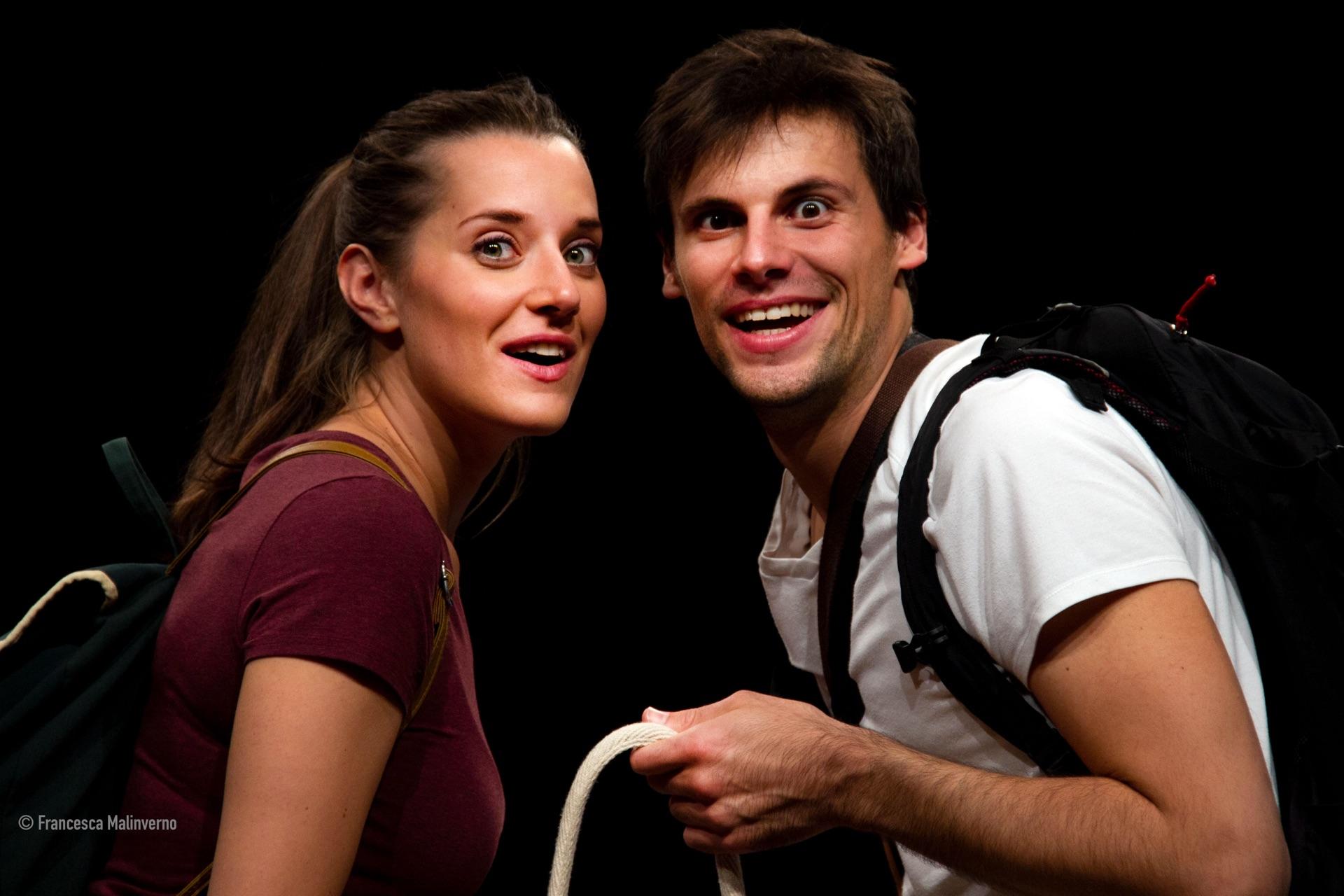 Valeria Girelli e Alberto Mariotti, attori della compagnia teatrale Dittico Elalù